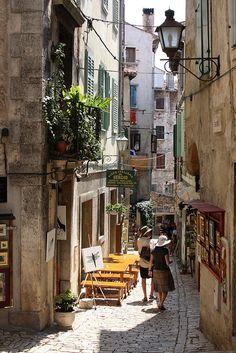 Old Town alley - Rovinj, Croatia   by © Jim Hart