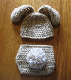 Crochet Infant Newborn Baby Spring Easter Bunny ~ Inspiration ONLY.