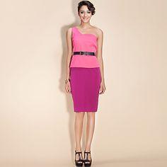 TS One-Shoulder Belted Pencil Dress – US$ 49.99
