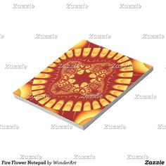 Fire Flower Notepad #red #orange #trendy #pattern #fractals #fractal #abstract #colorful #bright #vibrant #psychedelic #rainbow