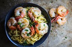 Pin for Later: 14 Delicious Shrimp Recipes That Your Kids Will Love Shrimp Scampi This version of a classic shrimp dish can be made with your kids' favorite type of pasta and is a quick and low-calorie dinner option they'll love.