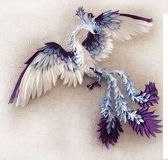 Vogel Phönix, Phoenix Dekor, Paradiesvogel, Feuer-Vogel-Figur, Feuer-Vogel-Statue, Skulptur von Firebird
