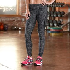 Look as fabulous as you feel in the Womens Road Runner Sports SpeedPro Compression Printed Tight
