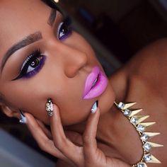 "#ShareIG @Sugarpill Cosmetics Cosmetics poison plum (sugarpill pro palette) smudged under lash line. @H. R. Lash Studio Chicago ""Natasha"" lashes. @anastasiabeverlyhills ultra violet mascara. Inglot 77 gel liner. @anastasiabeverlyhills ""chocolate"" dip brow pomade. @Siobhan Domagala Raine ""lipnotize"" lipstick. Necklace from @deelishdeanna ✨ #Sugarpill #flutterlashes #anastasiabeverlyhills #colouredraine #makeupshayla"