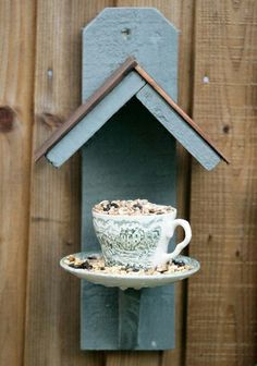 Teacup Bird/Squirrel feeder