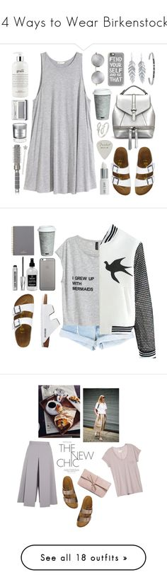 """14 Ways to Wear Birkenstocks"" by polyvore-editorial ❤ liked on Polyvore featuring uglyshoes, birkenstocks, waystowear, Lauren Ralph Lauren, Casetify, TravelSmith, H&M, Belk Silverworks, Linda Farrow and Lord & Berry"