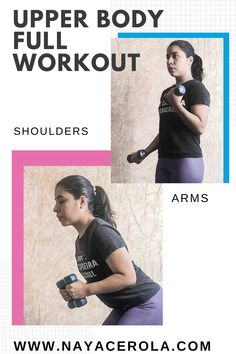 Dumbbell exercises for arms, shoulders, and back. Perfect workout for women to tone and strengthen your upper body. Dumbbell Exercises, Dumbbell Workout, Stretching Exercises, At Home Workouts For Women, Perfect Workout, Upper Body, Fun Workouts, Get Started, Fit Women