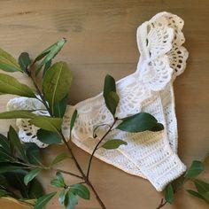 Cotton crochet bikini, ruffle bikini bottom