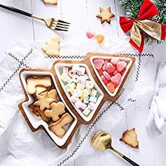 New Special Christmas Gift Creative Ceramic Bamboo Tree Tray Snack Tray Snack Plate Fruit Plate Dish Tableware Breakfast Tray Christmas Desserts Easy, Christmas Dishes, Christmas Snacks, Christmas Holiday, Snack Platter, Snacks Dishes, Dessert Tray, Dessert Ideas, 185