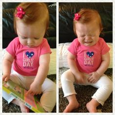 Uh-oh. Mommy took her book away