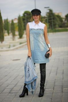 47 Upcycle Clothes To Inspire Every Girl - Selbstgemachte Kleidung - Denim Fashion Girl Outfits, Cute Outfits, Fashion Outfits, Fashion Trends, Trending Fashion, Denim Outfits, Fashion Hacks, Fashion 2016, Fashion Clothes