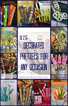 15 Festive Pretzels for Any Occasion | Add that special touch to your dessert table with these sweet and salty treats!