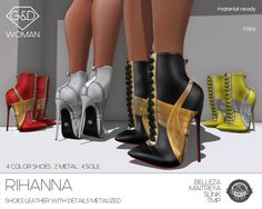 EXCLUSIVE @ HAUS OF SWAG start 21th october 1 PM SLT! TAXI: http://maps.secondlife.com/secondlife/Heatherlands/128/38/28 shoes leather with details metalized 4 color shoes and 2 metalized for details customizable with hud