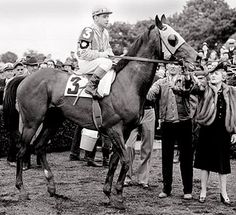 He faced only 2 in the Belmont Stakes, and won by 25 dominating lengths. Count Fleet ran 21 times overall, winning 16 races, finishing 2nd 4 times, 3rd once, while earning $250,300.