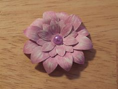 paper flower Cre8ively made by Amy: Shabby Chic Flower Tutorial