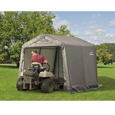 ShelterLogic Peak Style Shed/Storage Shelter — Green, x x Model# 71814