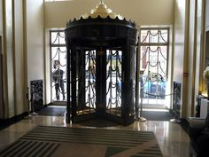 Gorgeous revolving door at Claridges, London.
