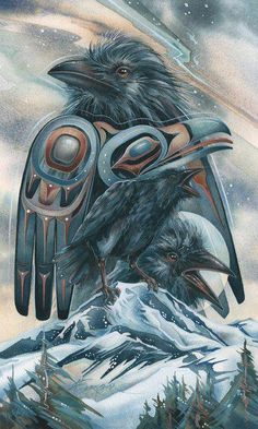 New Spirit Animal Art Crows Ravens Ideas Crow Art, Raven Art, Rabe Tattoo, Quoth The Raven, Animal Spirit Guides, Crow Spirit Animal, Animal Medicine, Power Animal, Crows Ravens