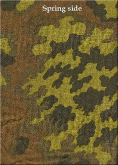 german ww2 SS-Eichenlaubmuster (spring–summer) 1943 -1945 Military Camouflage, Military Art, Military History, Ww2 Uniforms, German Uniforms, Uniform Insignia, German Soldiers Ww2, Camouflage Patterns, Camouflage