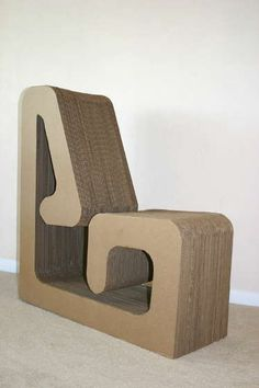 Very interesting cardboard chair (best in dry climates?)