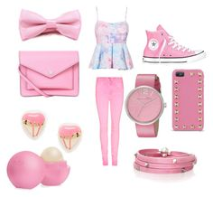 """""""cotton candy girl"""" by cvance33 on Polyvore featuring Converse, Valentino, Marc by Marc Jacobs, Me & Zena, Sif Jakobs Jewellery and Eos"""