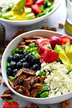 Mixed Berry Power Salad with Orange Poppyseed Dressing