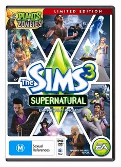 The box cover of SIMS 3 supernatural.