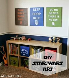 Make some fun wall decor for your favorite Star Wars fan using these free SVG files and a few simple supplies!