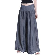 Amazon.co.jp: Aubig レディースファッションカジュアルルーズパンツ ワイド裾幅タイプロング丈ガウチョパンツ キュロット パンツ&スカート 薄っぽいよ - Dark Gray: 服&ファッション小物通販