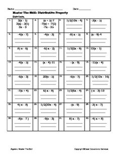 math worksheet : distributive property with equivalent expressions and area models  : Multiplication Distributive Property Worksheets