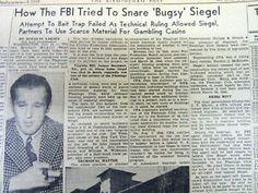 3 1947 newspapers MURDER of gangster BUGSY SIEGEL atHomeGirlfriend VIRGINIA HILL | eBay Bugsy Siegel, Virginia Hill, Bait Trap, Important Dates, History, Vegas, Vintage, Women, Historia