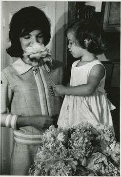Kennedy mother & daughter...Jackie With A Young Caroline...Always A Strong Mother/Daughter Bond...Even To The End...