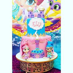 This cake! Shimmer and Shine never looked so good!!! Design and…