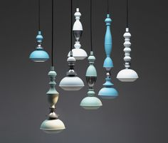 Steel pendant lamp BENBEN BENBEN Collection by Jacco Maris { lamp base pendents, may be the best lighting idea yet MJP} Pendant Chandelier, Pendant Lighting, Interior Lighting, Lighting Design, Ceiling Lamp, Ceiling Lights, Blitz Design, Interior Design Magazine, Hanging Lights