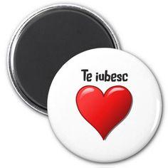 Shop Te amo - I love you in Spanish Magnet created by Parleremo. I Love You, My Love, Round Magnets, Paper Cover, Romanian Language, German Language, Spanish Language, Goodies, Easy