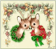 Animated Christmas Wallpaper with Music | Baby Reindeer's Animated - Christmas Photo (9058647) - Fanpop fanclubs