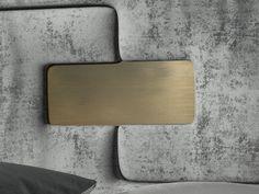 Oak upholstered headboard. Mod. ENZO4848-5