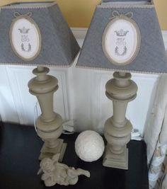 paire de lampes ballustre