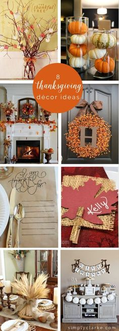 Canadian Thanksgiving is right around the corner! 8 thanksgiving decor ideas #crafts #DIY #home http://simplyclarke.com/2015/11/8-thanksgiving-decor-ideas/