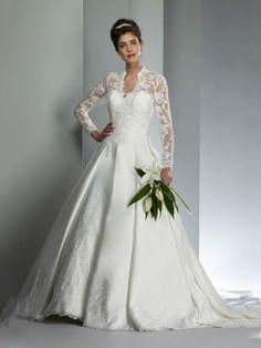 Andrea-Vestido de Noiva em cetim - dresseshop.pt