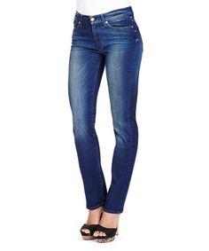 Straight Leg blue cotton blend jeans Sale - 7 For All Mankind Sale