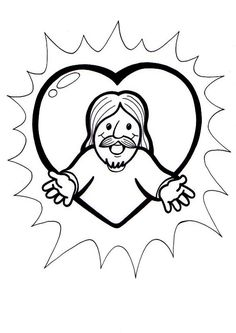 Jesus Is My Friend Coloring Page from TwistyNoodle.com