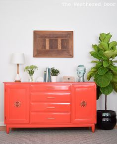High Gloss In A Fun Color Willett Buffet Dresser Credenza Salsa The Creativity Exchange Furniture Paint Colors