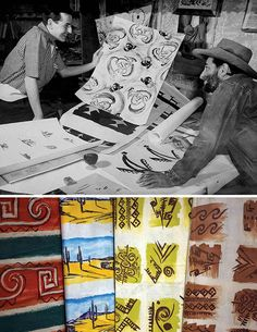 A partnership with the Fuller Fabric Company in 1952 led DeGrazia to produce many small-scale and full-sized watercolor designs for printed textiles. Happy Throwback Thursday!  #NationalHistoricDistrict #DeGrazia #Artist #Ettore #Ted #GalleryInTheSun #ArtGallery #Gallery #Adobe #Architecture #Tucson #Arizona #AZ #Catalinas #Desert #Fabric #Textiles #Designs #Paintings #Throwback #Thursday #TBT #teddegrazia #galleryinthesun #degrazia