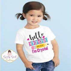 1st Day of Kindergarten Shirt for Girls - Kindergarten shirts - 3T fitted shirt