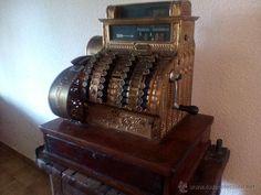Antigüedades: Caja Registradora Antigua National. - Foto 2 - 54327290