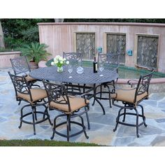 Meadow Decor Kingston 7 Piece Counter Height Dining Set