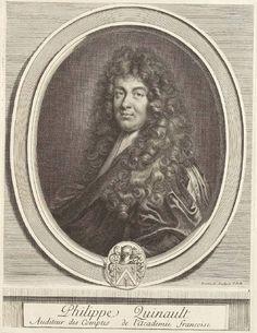 Portrait de Philippe Quinault par Charles Perrault 1696 © BnF