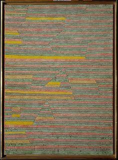 Monumentos de G.  Paul Klee (alemán (nacido en Suiza), Münchenbuchsee 1879-1940 Muralto-Locarno)  Fecha: 1929 Medio: Yeso y acuarela sobre lienzo Dimensiones: H. 27-3/8, 19-3/4 pulgadas (W. 69,5 x 50,2 cm.) Clasificación: Pinturas Línea de crédito: La Colección Berggruen Klee, 1984