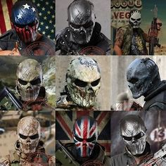Airsoft paintball #skull full face #protection mask #outdoor tactical gear cs war,  View more on the LINK: http://www.zeppy.io/product/gb/2/221923577029/